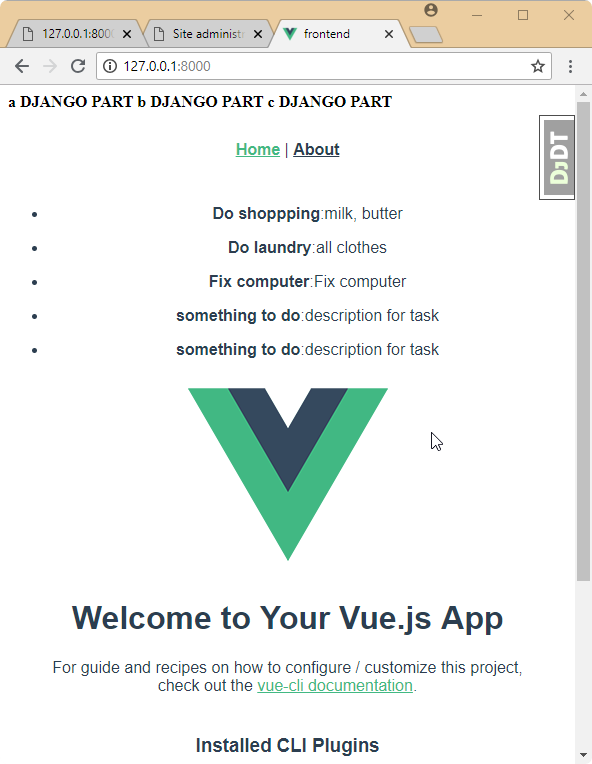 Django Vue js and GraphQL - Step by step | One Page Knowledge